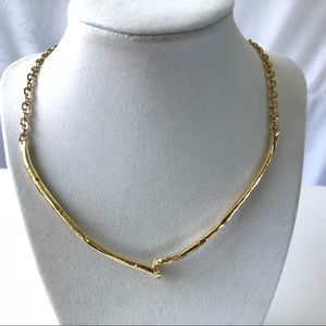 New! Express Gold V Necklace with adjustable chain